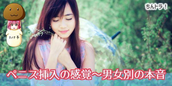 ペニス挿入の感覚~男女別の本音